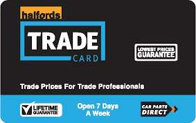 HALFORDS Extra 10% off with Trade Card till 4th August
