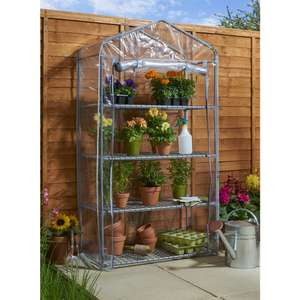 Wilko 4 Tier Mini Greenhouse Large, £5 instore Camberley (£16 online)