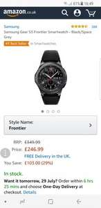 Samsung Gear S3 Frontier Smartwatch - Black/Space Grey £246.99 Sold by Starplus Electronics and Fulfilled by Amazon