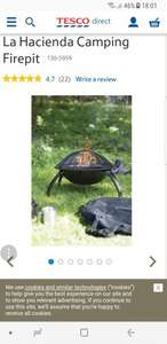 La Hacienda Camping Firepit £26 @ Tesco
