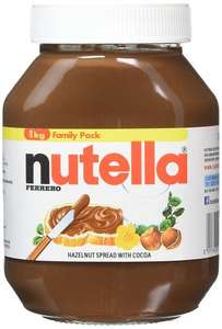 FERRERO Nutella Hazelnut Chocolate Spread, 1kg (Pack of 2) £5.33 [add on item] - Amazon