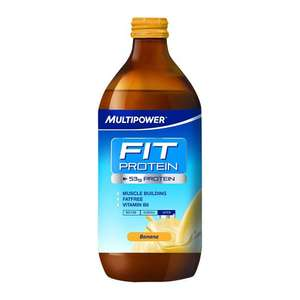 12 Bottles - MULTIPOWER Fit Protein Milkshake, 500 ml, Vanilla, 12-Piece (50g Protein per bottle) £7.93 Dispatched from and sold by Quasaro.