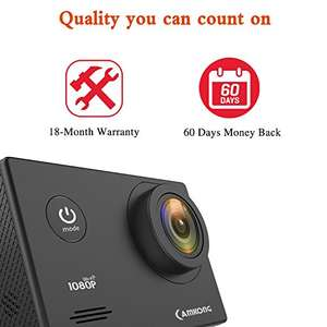 Action Camera, CAMKONG Underwater Camera 14MP Full HD £33.99 Sold by shadow vision-eu and Fulfilled by Amazon.