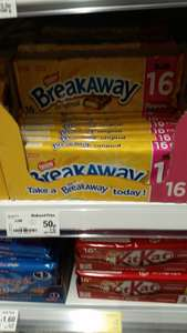 Breakaway reduced to 50p in Asda for 16 bars
