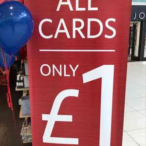 All cards £1 at clintons