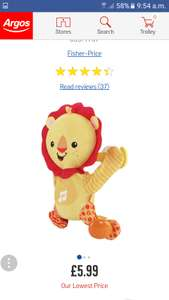 Fisherprice Roar and ride lion - £5.99 @ Argos
