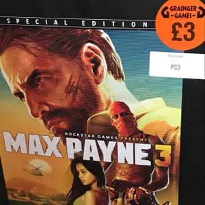 [PS3] Max Payne 3 Special Edition (With Statue) - £3 (Grainger Games (Possibly Instore Only))