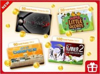 Exchange Nintendo Gold Coins for select games - Zen Pinball 3DS (50), Super Little Acorns 3D Turbo 3DS (50), Art of Balance Wii U (90), Bit. Trip - Runner 2 (100)
