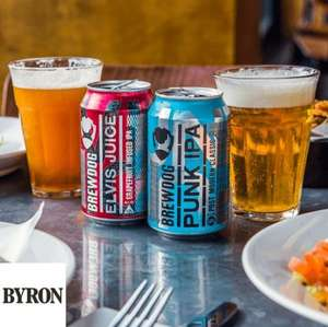 "Byron: Free beer (or Wine / Soft drink) with every ""main dish"" purchase - O2 Priority Offer"