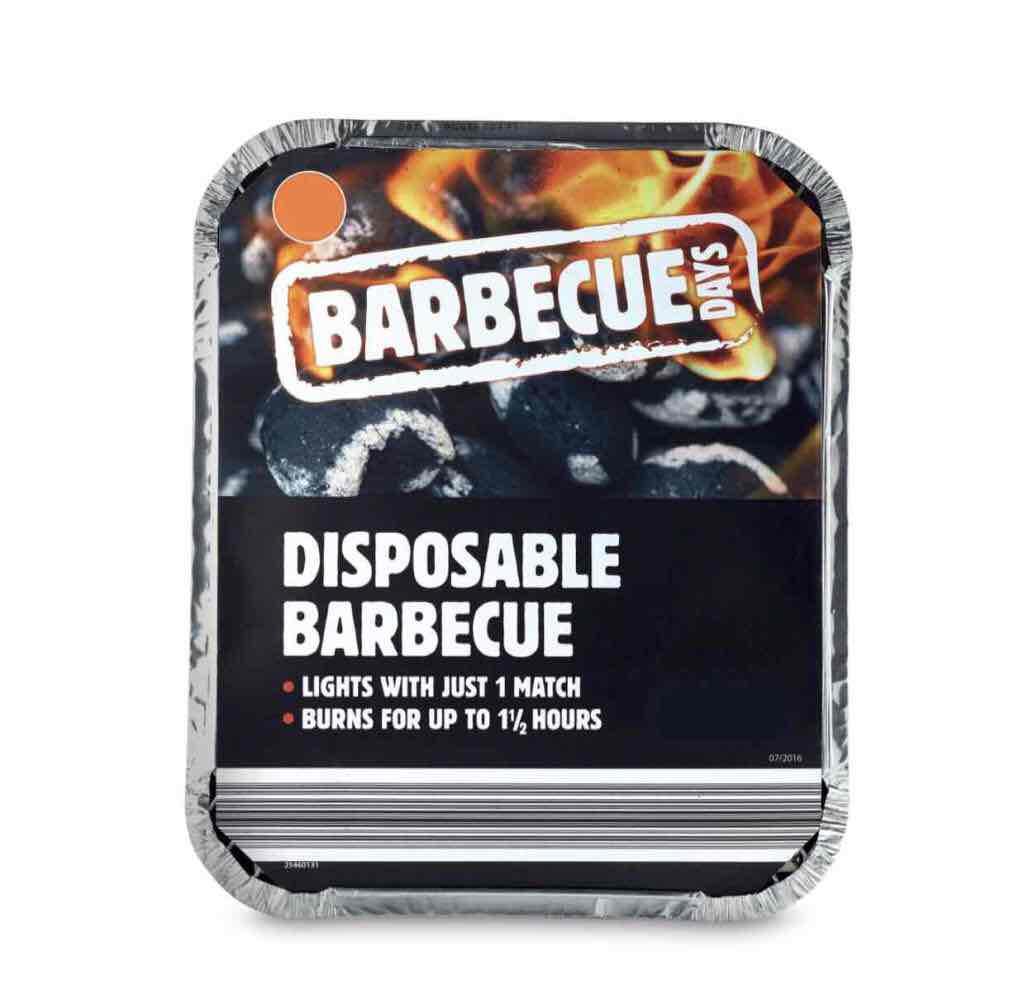 Aldi disposable Barbecue 03/08 - £1.29