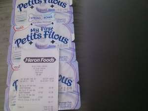 my first petits filous 3 for £1 in heron foods and 50p cash back from topcashback
