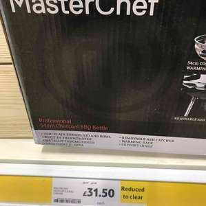 master chef kettle BBQ - £31.50 Tesco down from £90