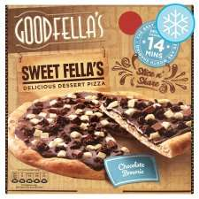 Goodfellas chocolate brownie pizza / apple crumble pizza 89p @heron foods