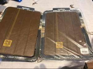 Golla Road IPad Air 2, iPad Air, iPad Pro Brown Leather Look Snap Case @ Poundland