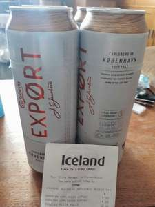Carlsberg Export scanning at £4 for 4x568ml(pint) cans at Iceland
