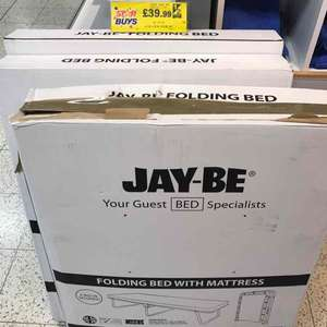 Jay-be folding bed £39.99 at Home Bargains