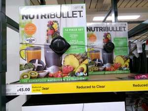 Nutribullet 600 12 piece, reduced to clear at Tesco Great Yarmouth, £45.
