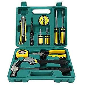 Tech Professional 12pcs Tools Set Basic Hand Carry Tool Box Kit Fix Repair Home Packaging £8.97 delivered @ Denny Shop Amazon