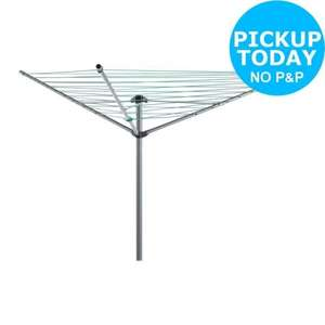 Simple Value 50m 3-arm Umbrella Lifting Rotary Airer-Catalogue Number 464/0868 From the Argos Shop on ebay for £8.99