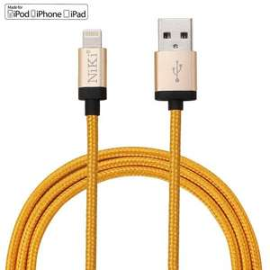 NiKi Lightning Cable - Apple MFI certified 1M Charging & Data Sync (Add-on item) 99p Sold by badasheng and Fulfilled by Amazon