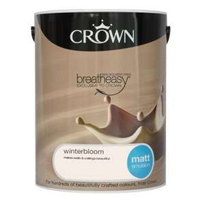 Crown Matt or Silk Breatheasy coloured emulsion £20 for 5 litres @ Homebase