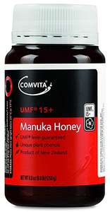 Comvita Manuka Honey UMF 15+ cheapest £21.32 for 250g @ Boots