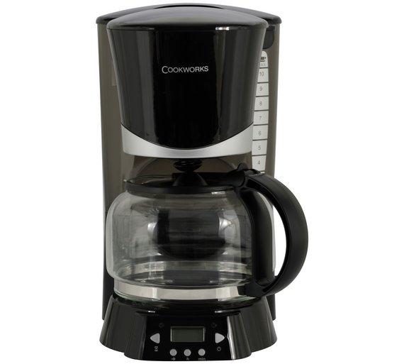 Cookworks Filter Coffee Maker - Black £14.99 @ Argos