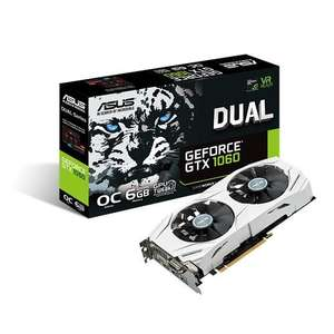 Asus GeForce GTX 1060 6GB DUAL OC Edition Graphics Card AWD-IT £280