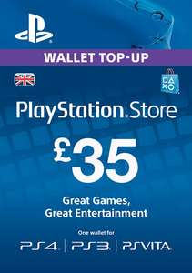 Playstation Network Card - £35 (PS Vita/PS3/PS4) £31.89 @ Cd Keys