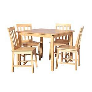 Solid Wood Dining Table and 4 Chairs £80 @ Asda (+£9.95 del)