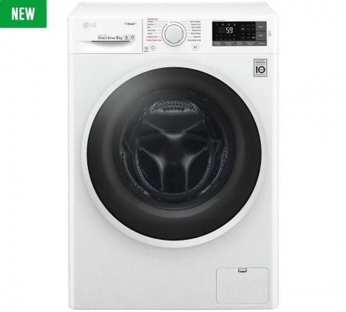LG F4J6TY8S 8KG 1400 Spin Washing Machine - White/Steel £359.99 (using code) @ Argos