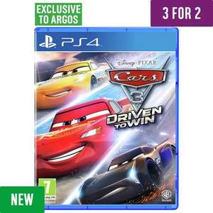 3 copies of Cars 3 Game - PS4, Xbox One or Nintendo Switch for £79.97 at Argos