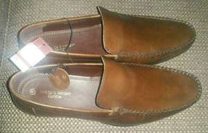 Taylor And Wright Edition Leather Slip On Loafers, Brown, £8 In Store @ Matalan