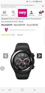 Huawei Watch 2 Bluetooth Sport Smartwatch For Android & IOS - Black - £229.99 @ Very