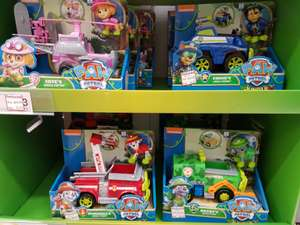 Paw patrol jungle vehicles £6.50 in willkinsons. Pups on own £4.