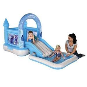 AirproTech Junior Frozen Bouncy Castle House, Slide & Pool Now £55 with code @ Tesco Direct (more in op ie Airflow Bouncy Castle was £130 now £70)