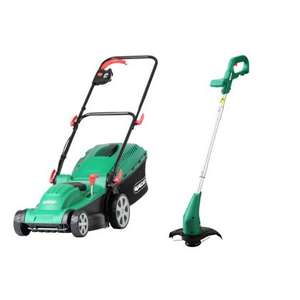 Qualcast 1500W 37cm Electric Rotary Lawnmower & 350W Grass Trimmer £76.89 at Homebase