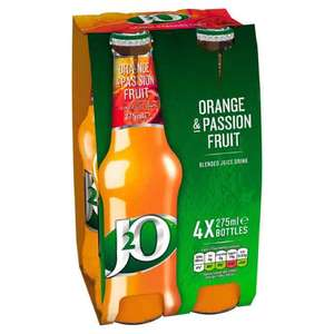 J2O Orange and Passion fruit 79p for a 4 pack @ Poundstretcher