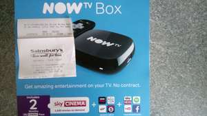 Now TV box with 2 months free sky cinema £13.50 @ Sainsbury's Northwich