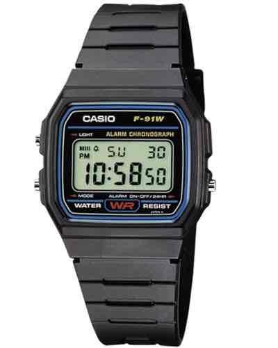 Casio F-91W-1YER Men's Resin Digital Watch £7.49  (Prime) / £11.48 (non Prime) at Amazon