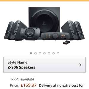 Logitech Z-906 Speakers £169.97 @ Amazon