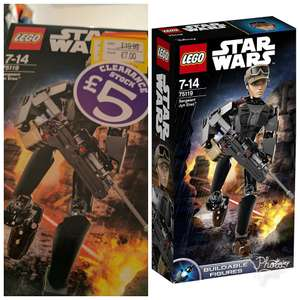 Lego Star Wars buildable figures Sergeant Jyn Erso was £19.99 NOW ONLY £5! @ Smyths instore