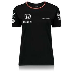 McLaren Honda Womens Ladies Official 2016 Team Set Up T Shirt Tee Top - Black £2.50 delivered @ McLaren / ebay