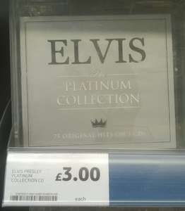 Elvis The Platinum Collection featuring 75 Original Hits on 3CDS £3 @ Tesco In-store and on-line