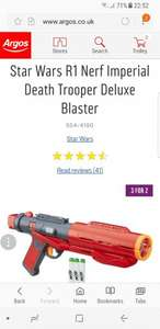 Star Wars R1 Nerf Imperial Death Trooper Deluxe Blaster £14.99 @ Argos