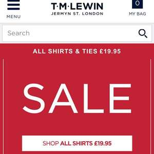 TM LEWIN ALL Shirts & Ties £19.95 Inc FREE Delivery