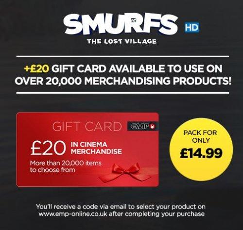 Smurfs: The Lost Village Digital HD + £20 EMP Voucher - Rakuten TV for £14.99