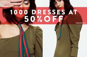 1000 dresses at 50% off @ Boohoo. starting from £3 Next day delivery for £1 with code 1POUND - ends midday (standard del £3.99)