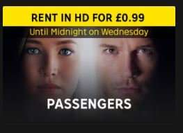 99p Passengers Digital HD Rental at Rakuten TV