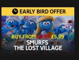 Digital Offer - Smurfs: The Lost Village - £5.99 SD / £7.99 HD + 20% Cashback via TopCashback @ Rakuten TV